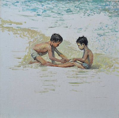 Painting - On The Beach by Eugene Maksim