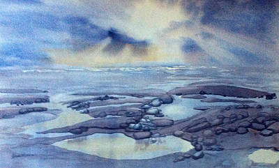 Painting - On The Beach by Glenn Marshall