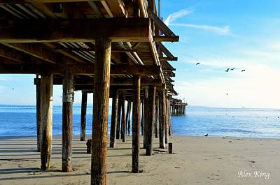 On The Beach In Capitola Art Print by Alex King
