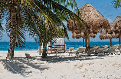 White Sandy Beach In Isla Mujeres Art Print