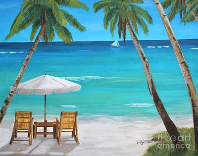 Painting - On The Beach by Jesslyn Fraser