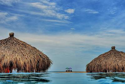 Palapas Wall Art - Photograph - On The Beach by Rex Montalban Photography