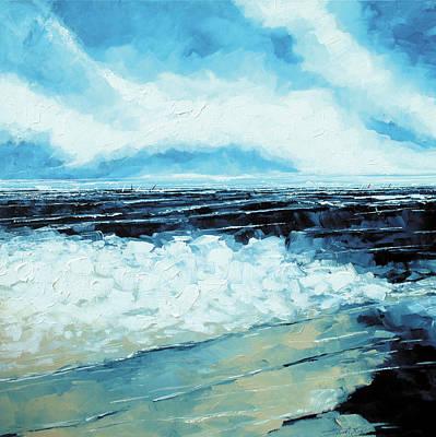On The Beach Art Print by Stuart Roy