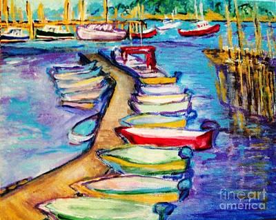 On The Boardwalk Art Print by Helena Bebirian