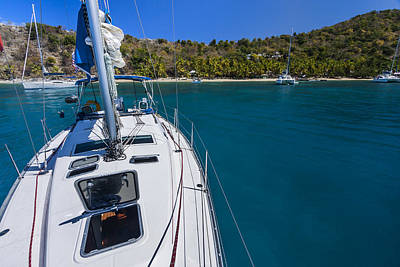 Bvi Photograph - On The Bow by Adam Romanowicz