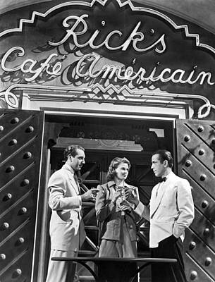 Black Stand Photograph - On The Casablanca Set by Underwood Archives