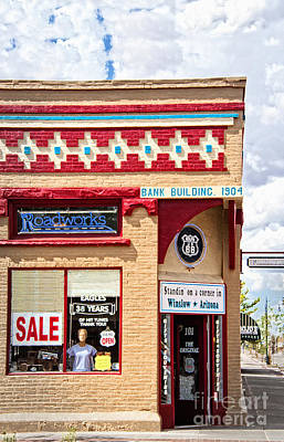 Offbeat Photograph - On The Corner In Winslow Arizona by Lee Craig