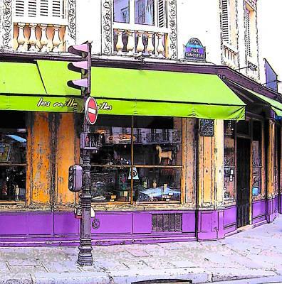 On The Corner Of Rue Rambuteau Art Print by Jan Matson
