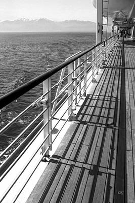 Photograph - On The Cruise Ship Deck Black And White by Ben and Raisa Gertsberg