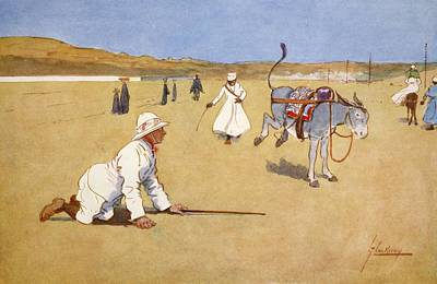 Saddle Drawing - On The Dam Road, Assouan, From The by Lance Thackeray