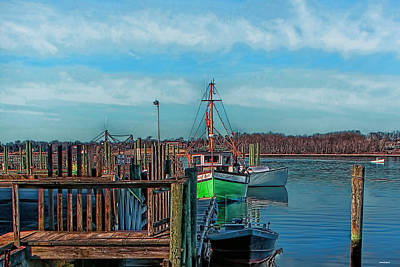 Photograph - On The Dockside Bristol Rhode Island by Tom Prendergast