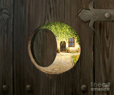 Antique Look Painting - On The Doorstep by Kiril Stanchev