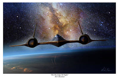 Sr-71 Painting - On The Edge Of Night by Mark Karvon