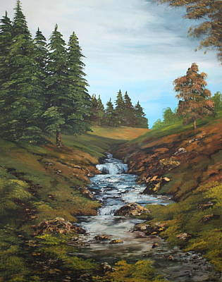 Cannock Chase Painting - On The Edge Of The Forest by Jean Walker