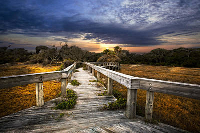 Florida Bridge Photograph - On The Edge Of The Marsh by Debra and Dave Vanderlaan