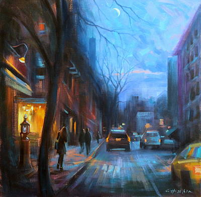 Painting - On The Eve Of Extraordinary Night by Chin H  Shin
