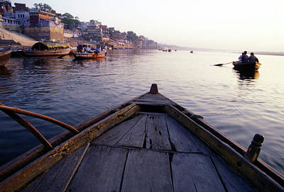 Ganges Photograph - On The Ganges River, Varanasi, India by Scott Warren