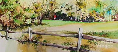 Sports Paintings - On the Green by P Anthony Visco