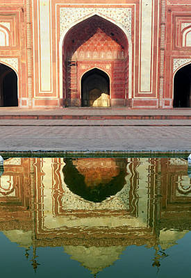 Entrance Memorial Photograph - On The Grounds Of The Taj Mahal by Steve Roxbury