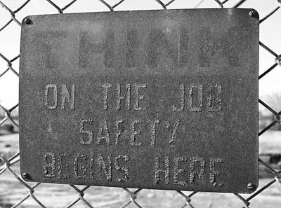 Photograph - On The Job Safety by Joseph C Hinson Photography