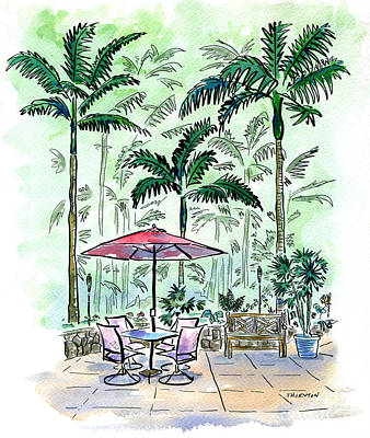 Painting - On The Lanai by Diane Thornton