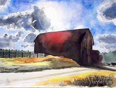 On The Macon Road. - Saline Michigan Art Print by Yoshiko Mishina