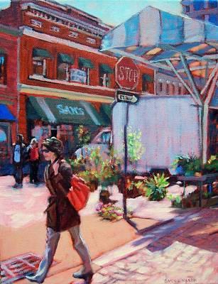 Market Scene Painting - On The Market by Bonnie Mason