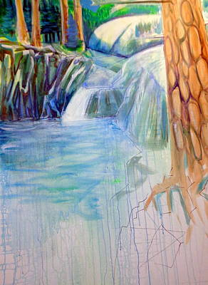Painting - On The Middle Fork by Steven Holder
