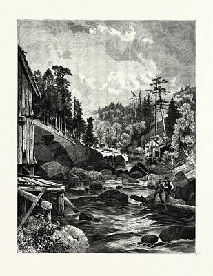 On The Missisquoi. Usa. Missisquoi River Is A Tributary Art Print by Canadian School