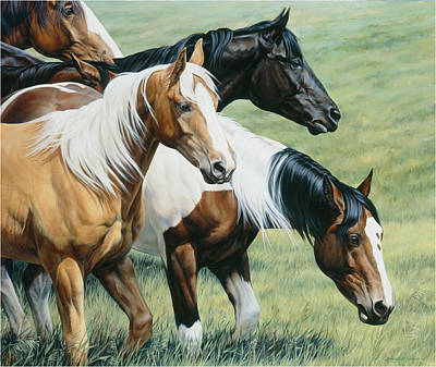 Horse Art Painting - On The Move by JQ Licensing