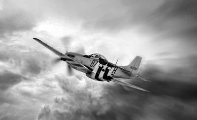 North American P51 Mustang Digital Art - On The Move by Peter Chilelli