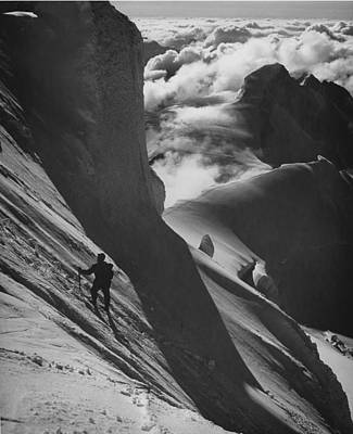 Photograph - On The Mt. Robson Climb by Ed  Cooper Photography