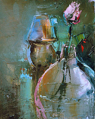 Painting - On The Night Table by David Figielek