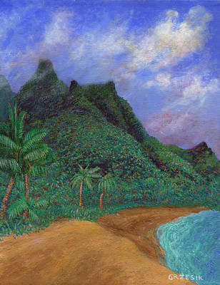 Hawaii Painting - On The North Shore by Kenneth Grzesik
