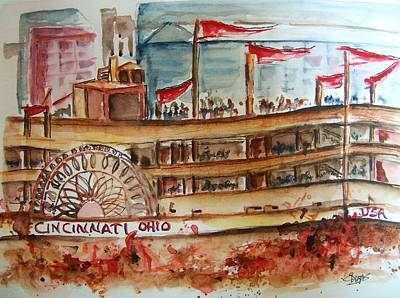 Painting - On The Ohio River by Elaine Duras
