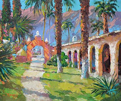 On The Old Hacienda Art Print