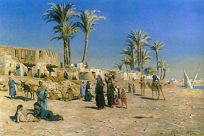 Camel Digital Art - On The Outskirts Of Cairo by Peder Mork Monsted