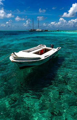 Photograph - On The Peaceful Waters. Maldives by Jenny Rainbow