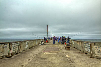 Photograph - On The Pier At Pacifica by SC Heffner