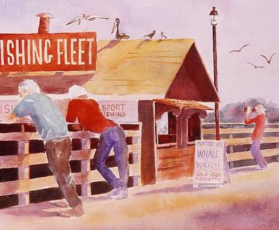 Painting - On The Pier by John  Svenson