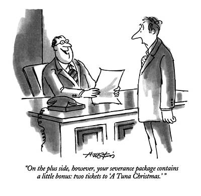 Employer Drawing - On The Plus Side by Henry Martin