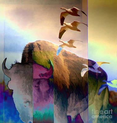 Digital Art - On The Prairie by Ursula Freer