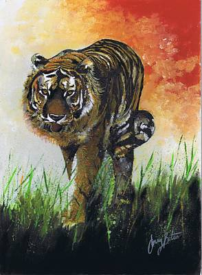 Painting - On The Prowl by Jerry Bates