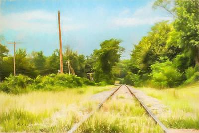 Photograph - Railroad - Landscape - On The Rails by Barry Jones