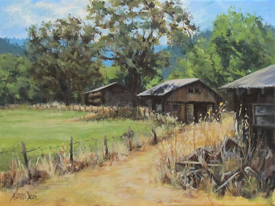Painting - On The Ranch by Karen Ilari