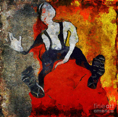 Painting - On The Red Divan by Nicole Philippi