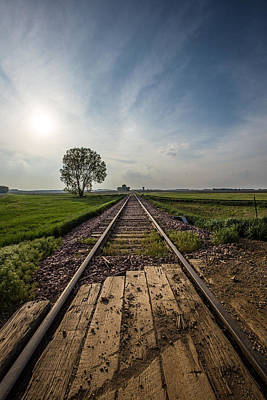 Railroads Photograph - On The Right Track by Aaron J Groen