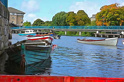 Photograph - On The River - Irish Art By Charlie Brock by Charlie Brock
