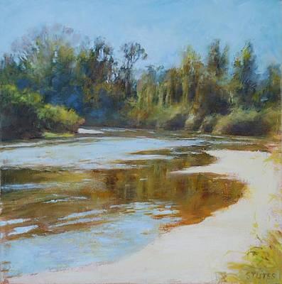 On The River Art Print by Nancy Stutes
