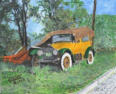 Lodging Painting - On The Road 1920 by Cliff Wilson